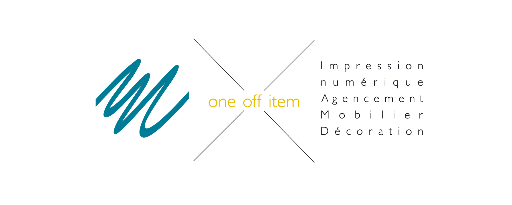 Logo One Off Item Sonia Axiote impression numérique grand format